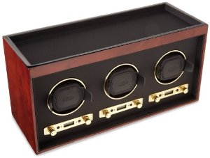 Wolf Meridian triple watch winder