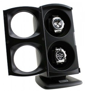 Versa double watch winder with door open